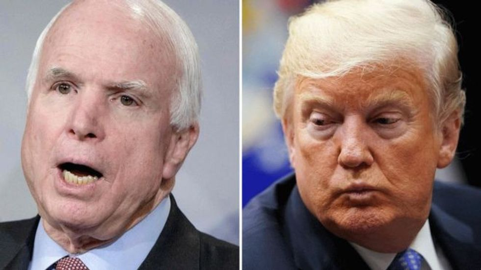 'I was never a fan of John McCain and I never will be': Furious Trump continues obsessing over the late senator