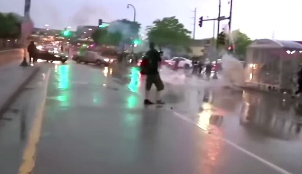 Police deploy tear gas and riot gear at demonstration demanding justice for George Floyd — in stark contrast to treatment received by white anti-lockdown protestors