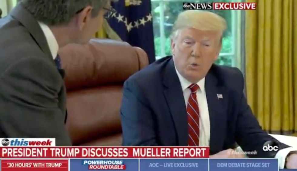ABC confronts a furious Trump over false claims of 'no obstruction' as he says Constitution lets him 'do whatever I want'