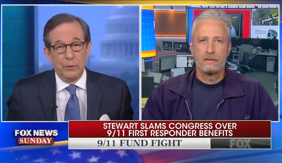Jon Stewart painstakingly details Mitch McConnell's 'unacceptable' inaction on 9/11 first responders bill: 'I believe he used the word gosh'
