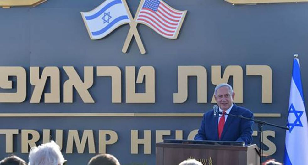 Netanyahu unveils illegal settlement named 'Trump Heights' in occupied Syrian territory: 'Blatant theft'