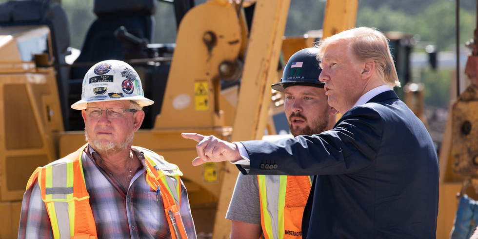 These 3 charts show how Trump's 'blue collar boom' is more of a bust for US workers