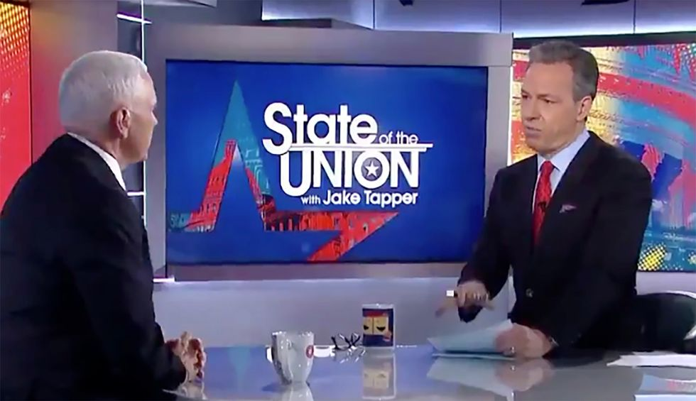 Jake Tapper laughs in Pence's face: 'We don't have the cleanest air and water in the world'