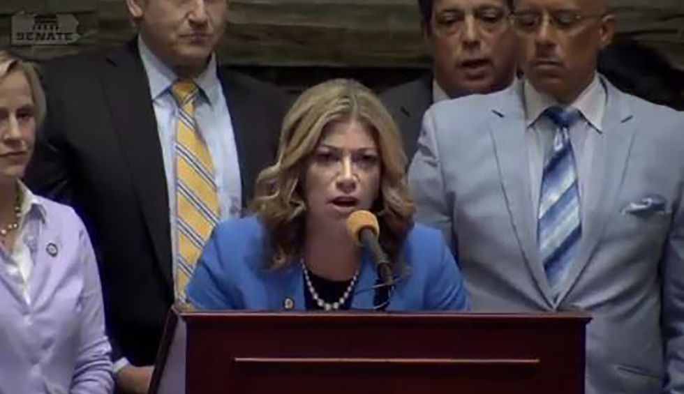 PA state senator screams over Democrat as she reads plea of man whose life depends on aid Republicans voted to end