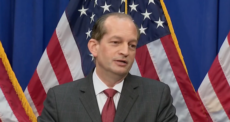 Here was the most revealing moment of Alex Acosta's desperate press conference on the Jeffrey Epstein case