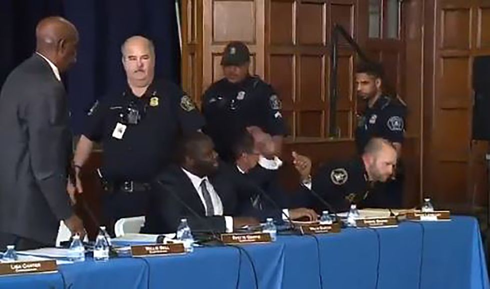 Detroit cops handcuffed black police commissioner for asking tough questions at public hearing