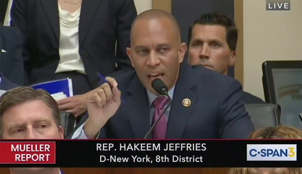 Rep. Jeffries precisely ticks through the three elements proving obstruction of justice