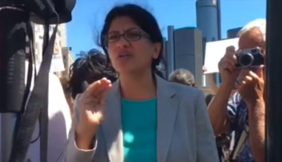 Rashida Tlaib rips 'unhinged' Trump after racist attacks