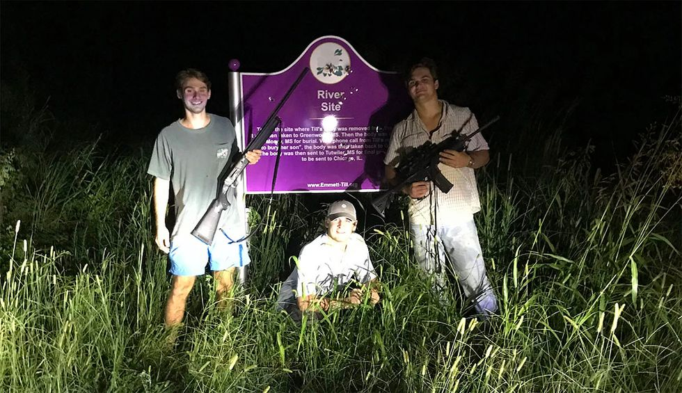 Next Emmett Till memorial to be bulletproof after picture of white Ole Miss students with guns goes viral