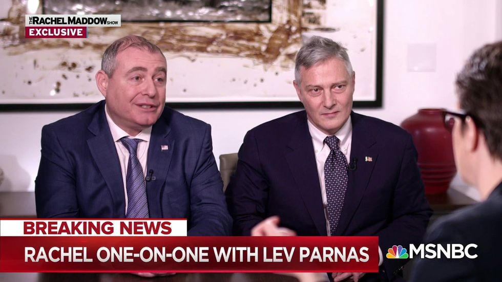 Lev Parnas's lawyer declared 'open war' on AG Bill Barr during Maddow interview: attorney