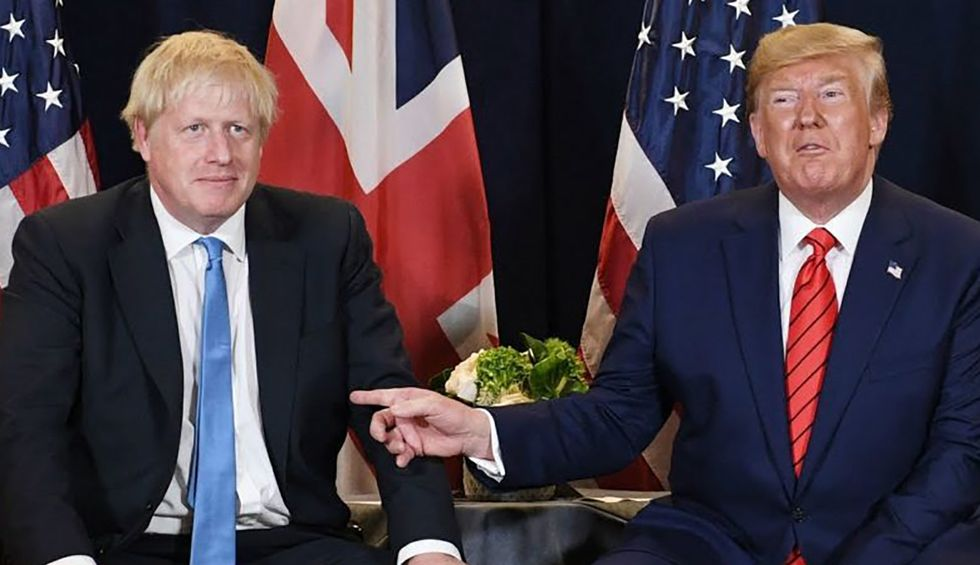 It looks like it's finally curtains for the Donald and Boris Show