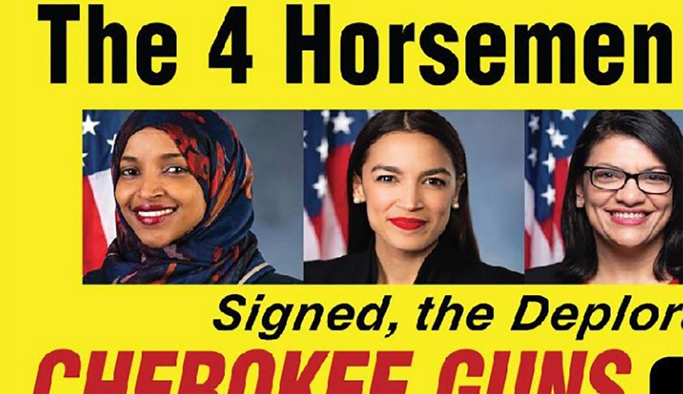 North Carolina gun shop buys billboard taunting 4 Democratic congresswomen as 'the 4 Horsemen'