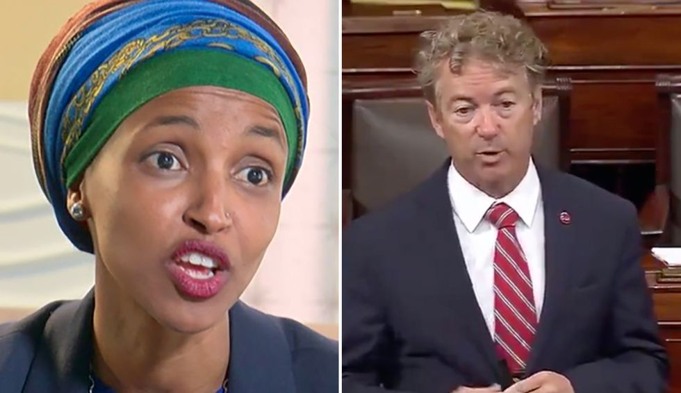Rand Paul says he's 'willing to contribute' an unspecified amount of money Ilhan Omar a ticket to Somalia in vile declaration of her 'ungrateful'-ness