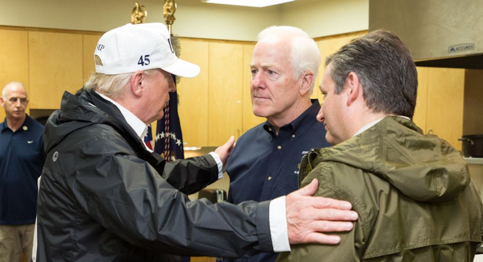 Republican Sen. John Cornyn is either a pathological liar or living in a parallel universe