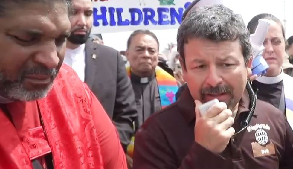 Faith leaders rally at detention center demanding end to inhumane treatment of immigrants