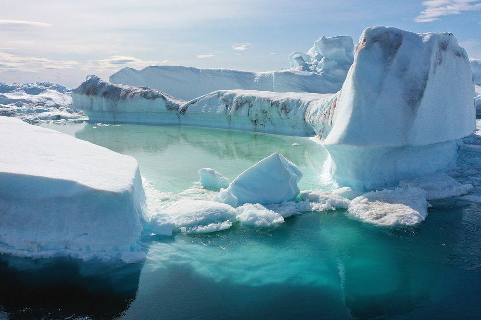 Shocking video from Greenland -- where an estimated 12 billion tons of ice melted in a single day