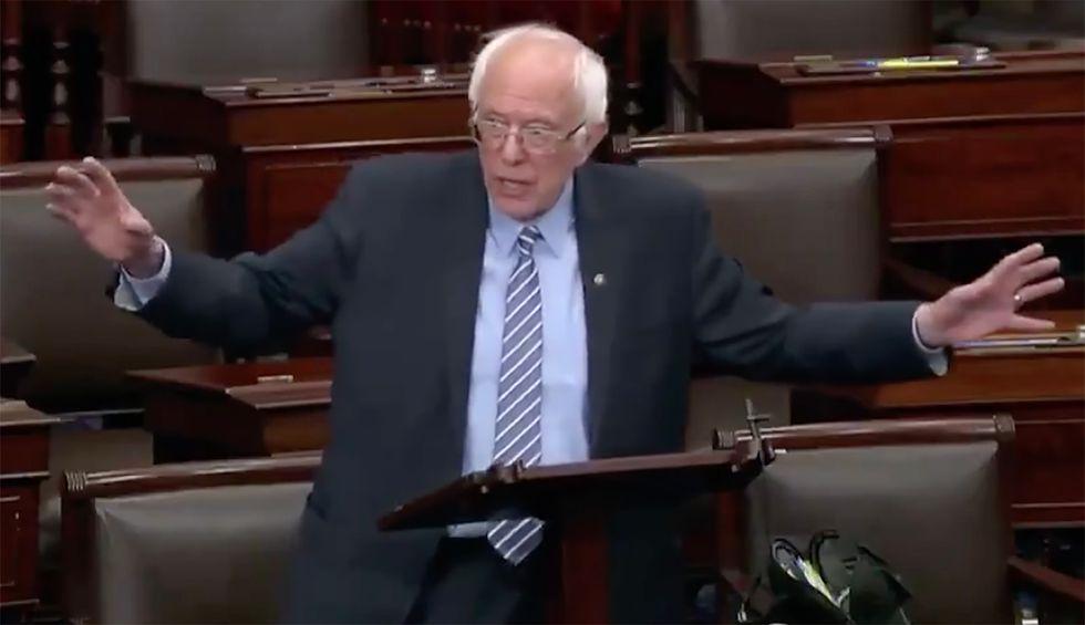 'Absurd and wrong': Watch Bernie Sanders deliver a fiery Senate floor speech admonishing GOP's relentless efforts to 'punish' poor people