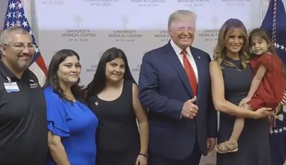 El Paso hospital says none of the hospitalized victims would meet with Trump