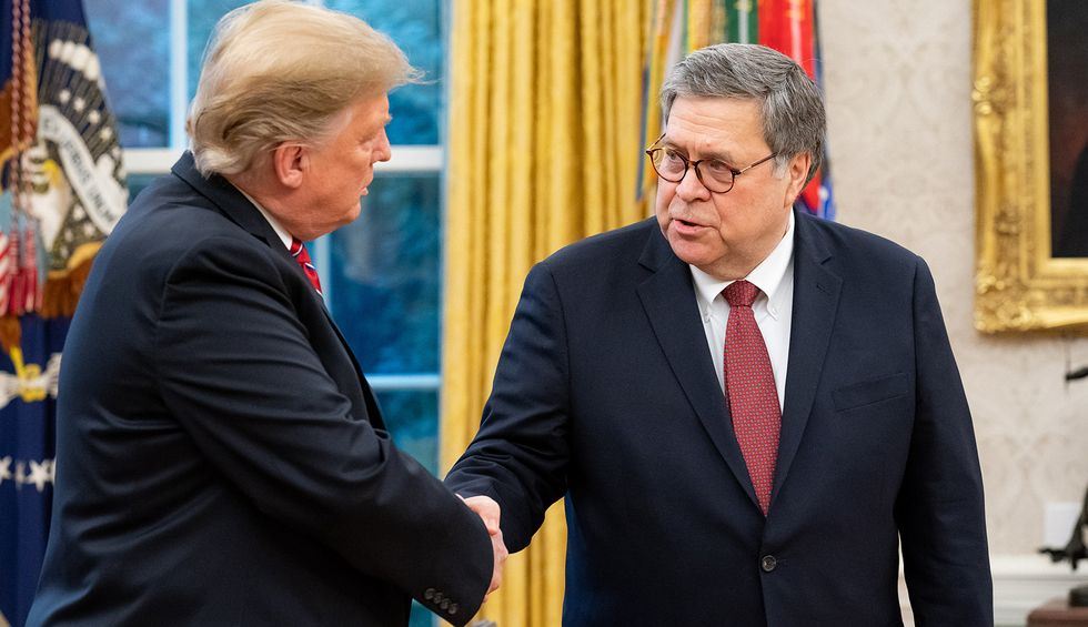 It sure looks like Bill Barr gave Trump the absurd idea he has 'total authority' to force states to reopen