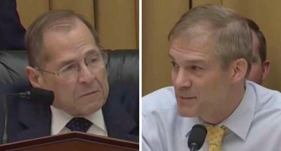 Watch: Jerry Nadler uses Jim Jordan's own material requests to shut down his anti-Mueller rant at Bill Barr's contempt hearing