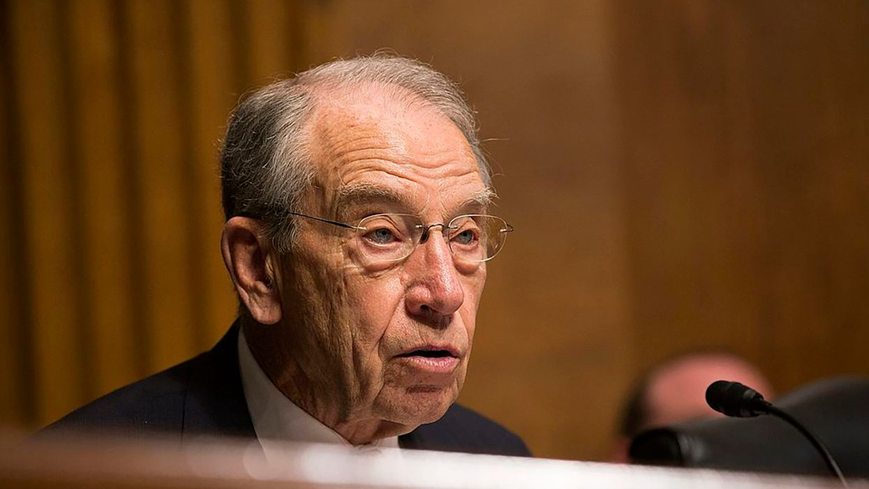 'Dumpster Fire' Chuck Grassley blasted for saying Biden should 'have control' over House and Senate Dems