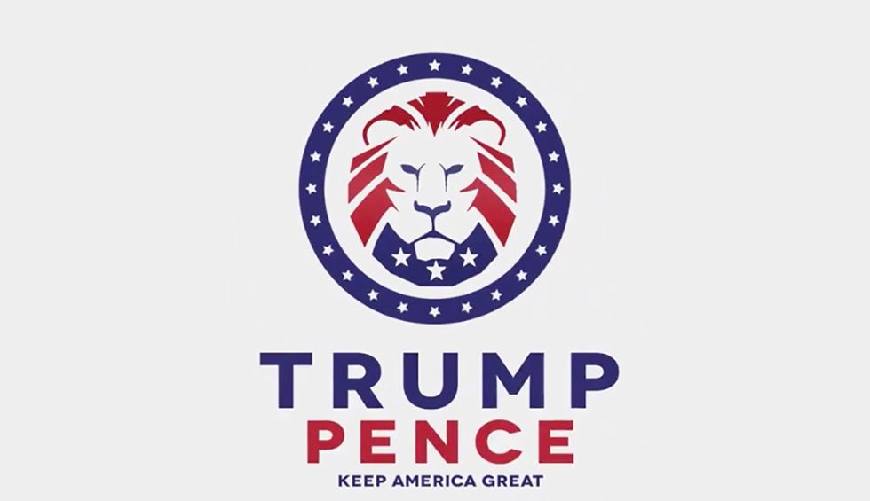 Was Trump's 2020 logo looted from white supremacists?