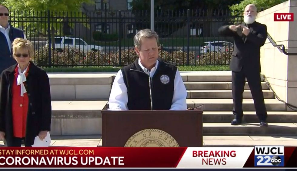 Georgia GOP governor orders several beaches to reopen days after acknowledging he's woefully uneducated on coronavirus spread