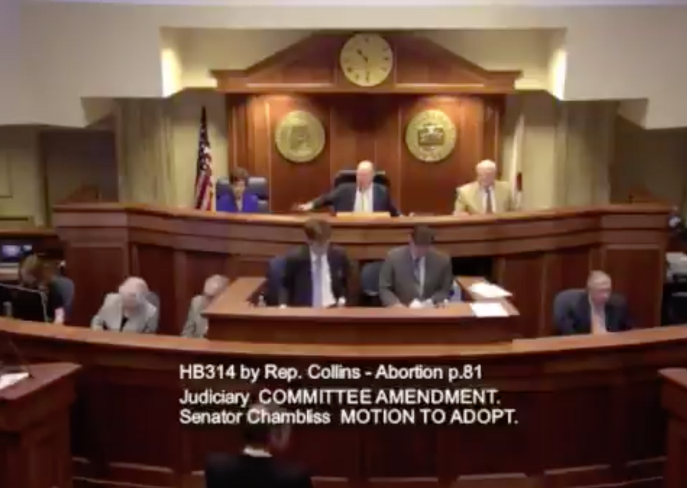 'There was no motion!': Watch chaos erupt in the Alabama Senate as right-wingers try to force through a draconian anti-abortion law