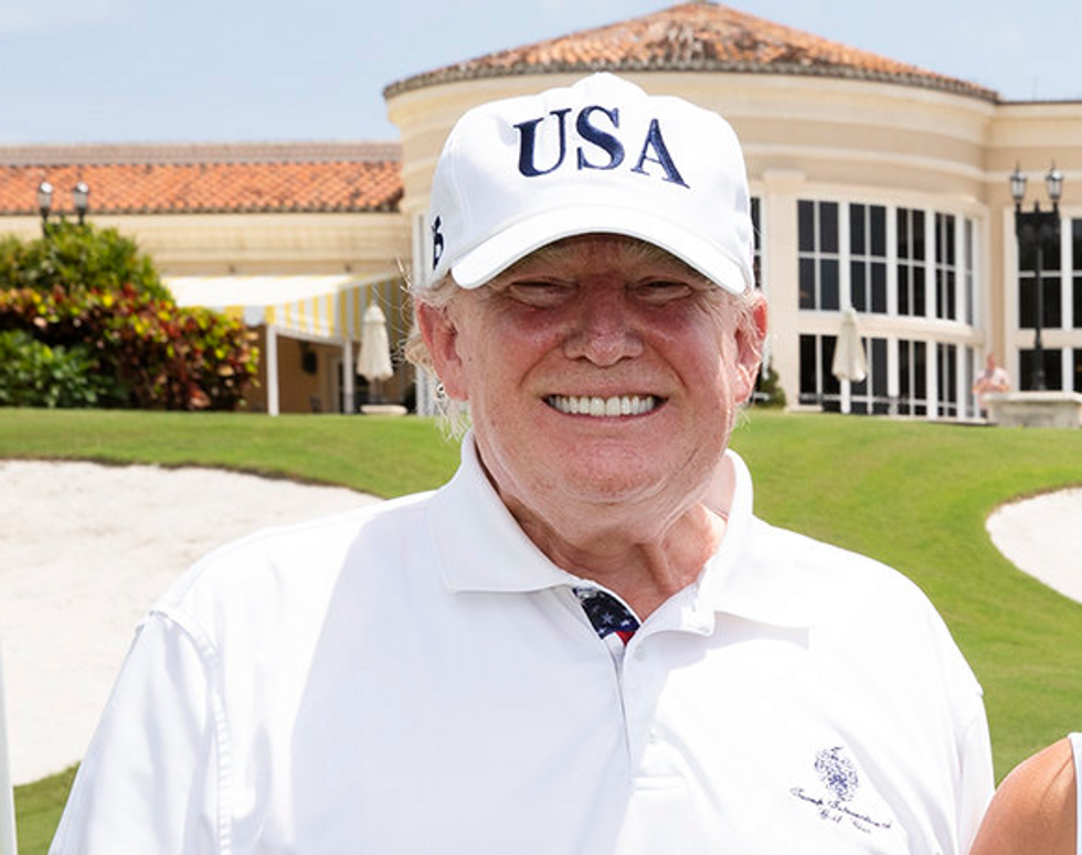Sportswriter recounts a story of Trump shamelessly cheating at golf against a father and son