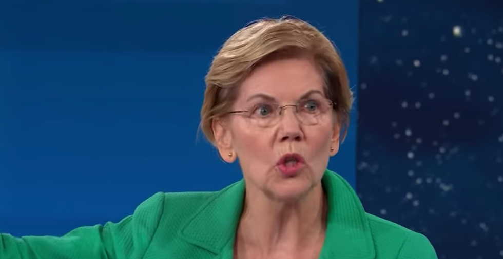 WATCH: Elizabeth Warren wallops Mike Bloomberg as the gloves come off in 2020 Democratic primary