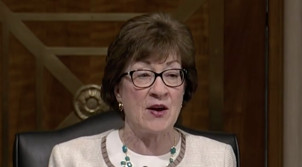 Susan Collins said the president learned his lesson. Trump just set her straight