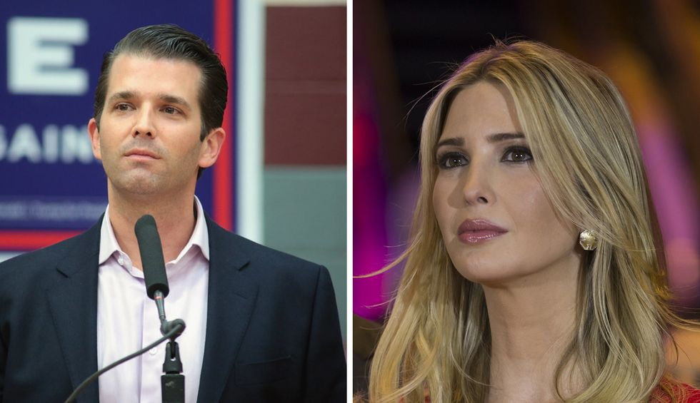 Ivanka and Don Jr. are fighting a bitter 'cold war' for prominence in the Trump dynasty and suspect each other of planting damaging stories: report
