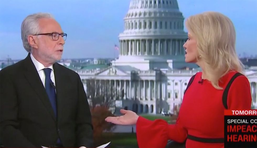 Kellyanne Conway melts down after CNN's Blitzer asks about husband George's impeachment observations