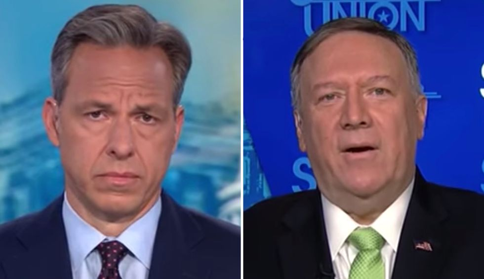 CNN's Jake Tapper grills Mike Pompeo over plan to bring Taliban to Camp David while they're still celebrating 9/11