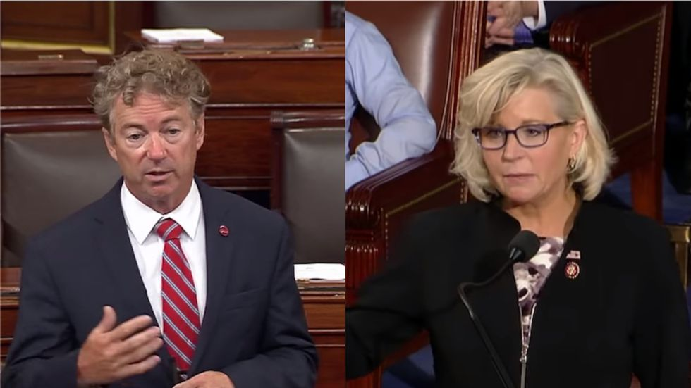 Rand Paul and Liz Cheney's clash gets personal as the Republican lawmakers fight over who Trump likes better
