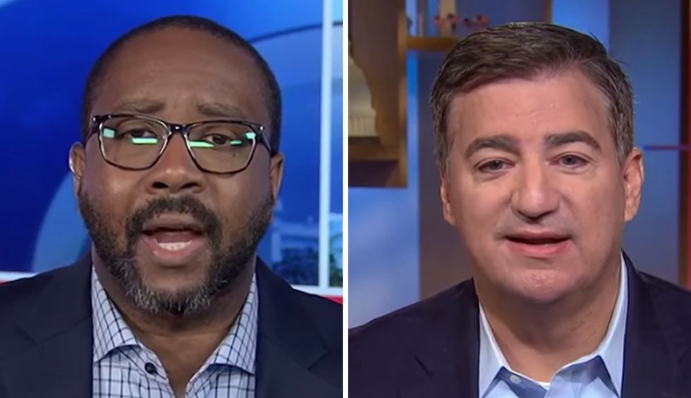 Trump supporter on MSNBC flattened for pushing debunked Biden smear: This is what 'happens in a banana republic'