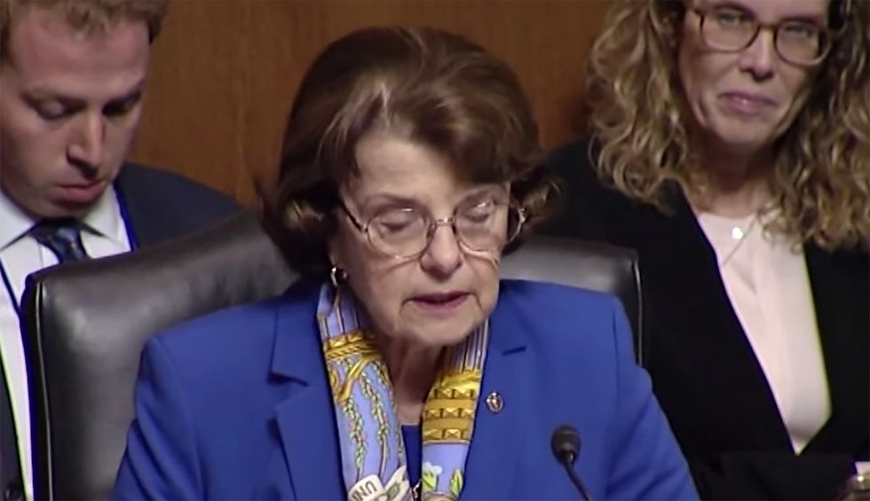 Senator Dianne Feinstein laying the groundwork to sue DOJ for release of the whistleblower report