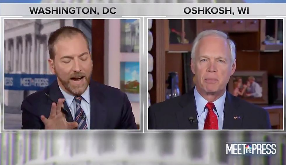 Chuck Todd blows up on Ron Johnson in stunning shouting match as senator rattles off conspiracy theories to defend Trump