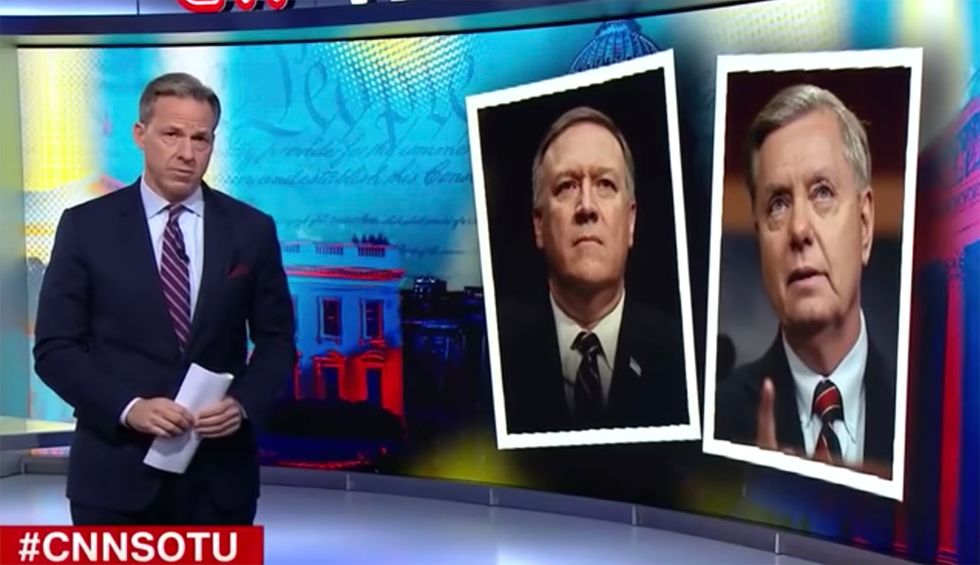'Those aren't principles': CNN's Tapper nails Lindsey Graham and Pompeo for providing Trump cover after pushing congressional oversight under Obama