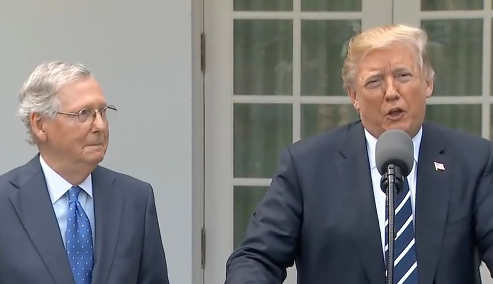 Trump calls the US Senate 'our turf' – accidentally admitting he knows the House will vote to impeach him