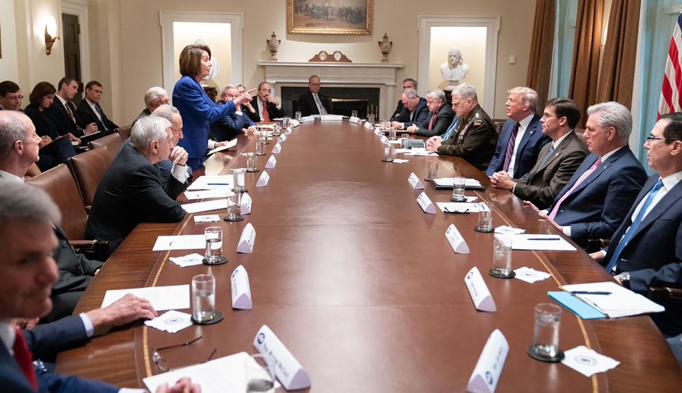 Nancy Pelosi goes there: Trump's White House 'meltdown' is a sign he's cracking under pressure