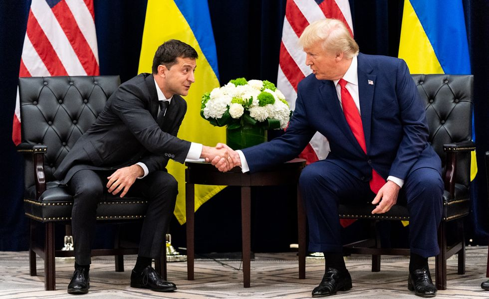 Is Trump using the Ukraine playbook to pressure states to bow to his will amid a pandemic?