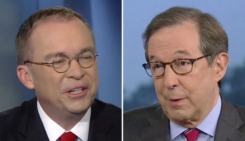 Mulvaney melts down as Chris Wallace rolls the tape of his quid pro quo admission: 'You totally said that'