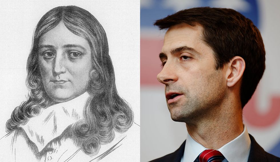 John Milton's 'Areopagitica' argues for 'unlicensed printing' — here's why the great defender of freedom might have shut Tom Cotton down