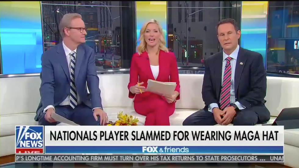 'Fox & Friends' hosts whine that MAGA hats are now stigmatized: 'You're hated' for wearing it