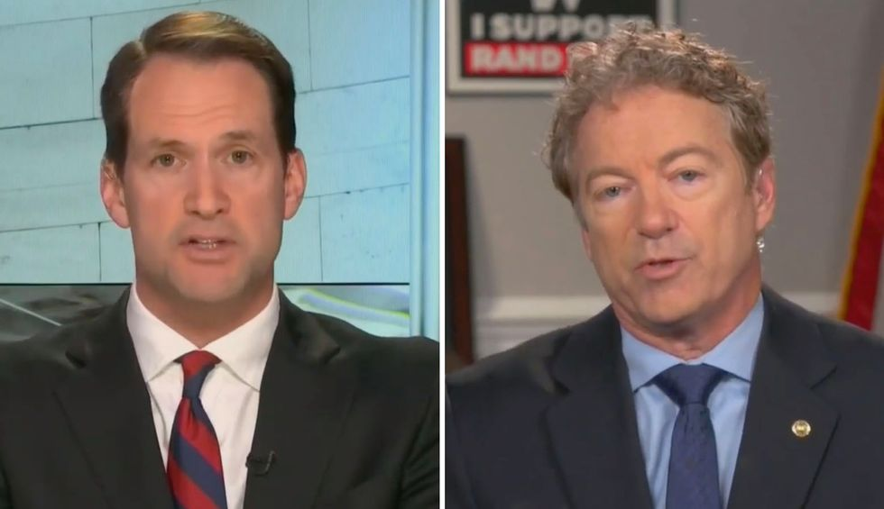 Democratic Rep. Jim Himes calls out Chuck Todd seconds after he lets Rand Paul lie: 'My head is only now decombusting'