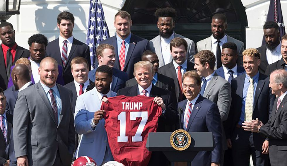 University of Alabama's student government walks back warning against 'disruptive behavior' during Trump appearance at football game