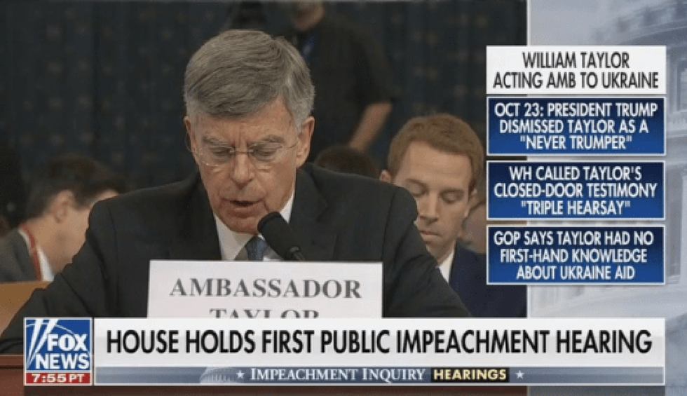 Fox News uses bizarre graphics to smear impeachment witnesses in real time