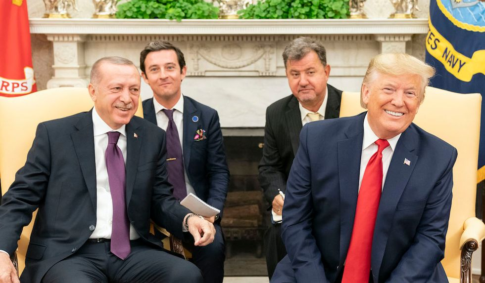 Conservative columnist lambasts Trump for 'fawning' over Turkish President Erdogan and praising 'the most corrupt cronies'