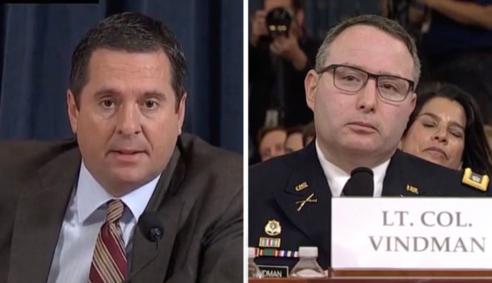 'Ranking member, it's Lt. Col. Vindman': NSC director corrects Devin Nunes in testy exchange over House Intelligence Committee rules